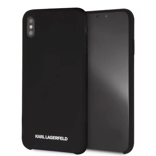 Funda Case Karl Lagerfeld Silicon Negro iPhone Xs Max - ForwardContigo