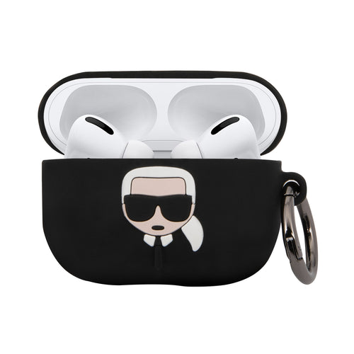 Case AirPods Pro  Karl Lagerfeld Negra Silicon - ForwardContigo