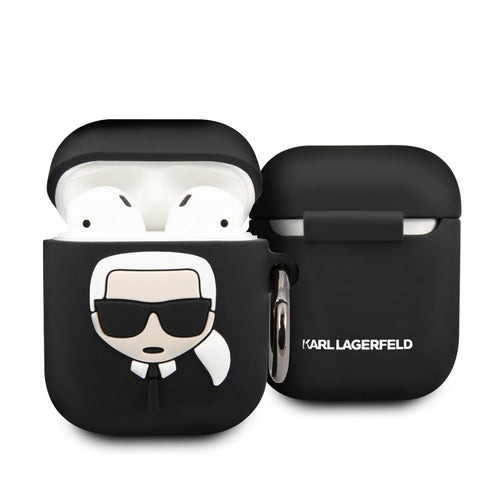 Case AirPods Negra Karl Lagerfeld - ForwardContigo