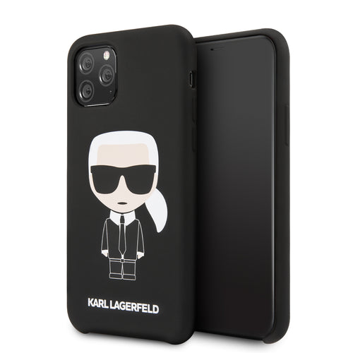 Case Funda karl Lagerfeld negra icónica iPhone 11 - ForwardContigo