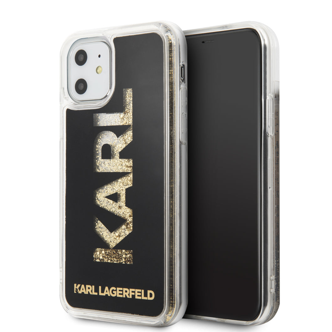 Funda Case KARL LAGERFELD TPU Glitter Negro iPhone 11 - ForwardContigo