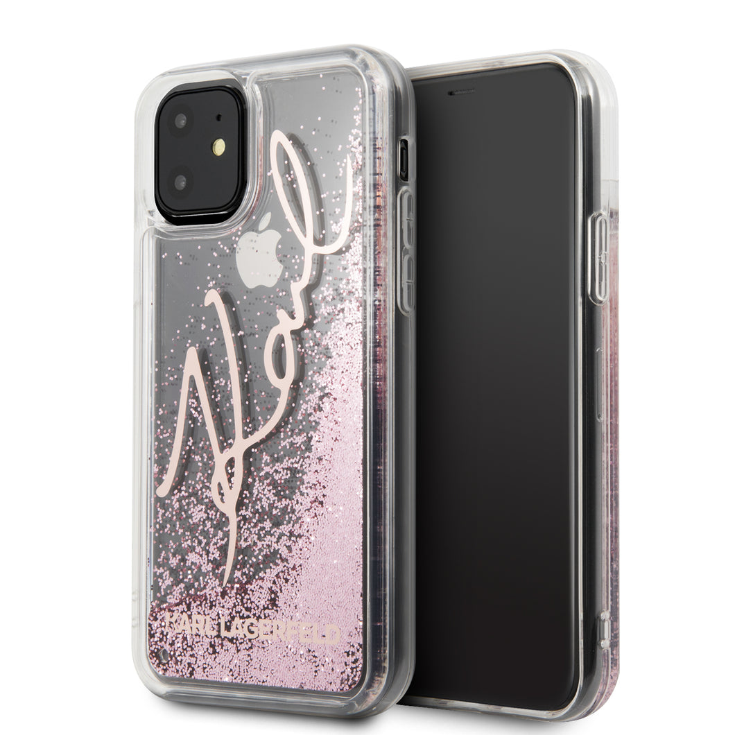 Funda Case Tpu Karl Glitter Rosa iPhone 11 PRO MAX - ForwardContigo