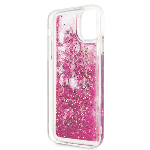Case Funda Karl Lagerfeld brillos rosas iPhone 11 Pro - ForwardContigo