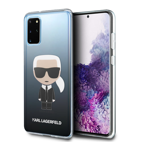 Case Funda Karl Lagerfeld TPU degradado negro Samsung Galaxy S20 Plus - ForwardContigo