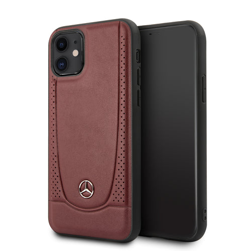 Funda Case Mercedes Benz Perforacion Piel iPhone 11 - ForwardContigo