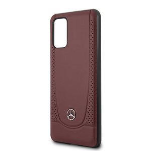Case Funda Mercedes Benz Piel roja grabada Samsung Galaxy S20 Plus - ForwardContigo