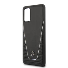 Cargar imagen en el visor de la galería, Case funda Mercedes Benz Quilted & Smooth Negra Samsung Galaxy S20 Plus - ForwardContigo