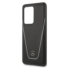 Cargar imagen en el visor de la galería, Case funda Mercedes benz  Quilted & Smooth negra Samsung Galaxy S20 Ultra - ForwardContigo