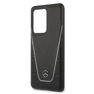 Case funda Mercedes benz  Quilted & Smooth negra Samsung Galaxy S20 Ultra - ForwardContigo
