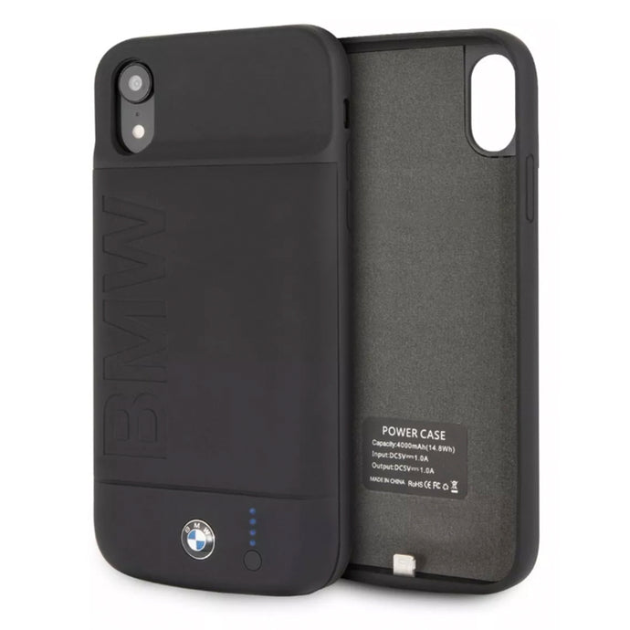 Power Case BMW Negro 4000mha iPhone Xr - ForwardContigo