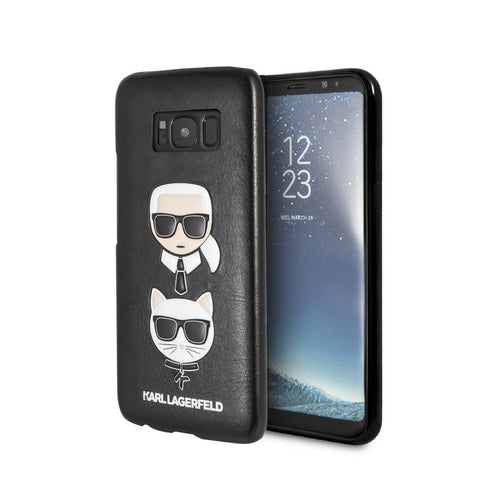 Case Funda Karl y Choupette negra Samsung Galaxy S8 - ForwardContigo