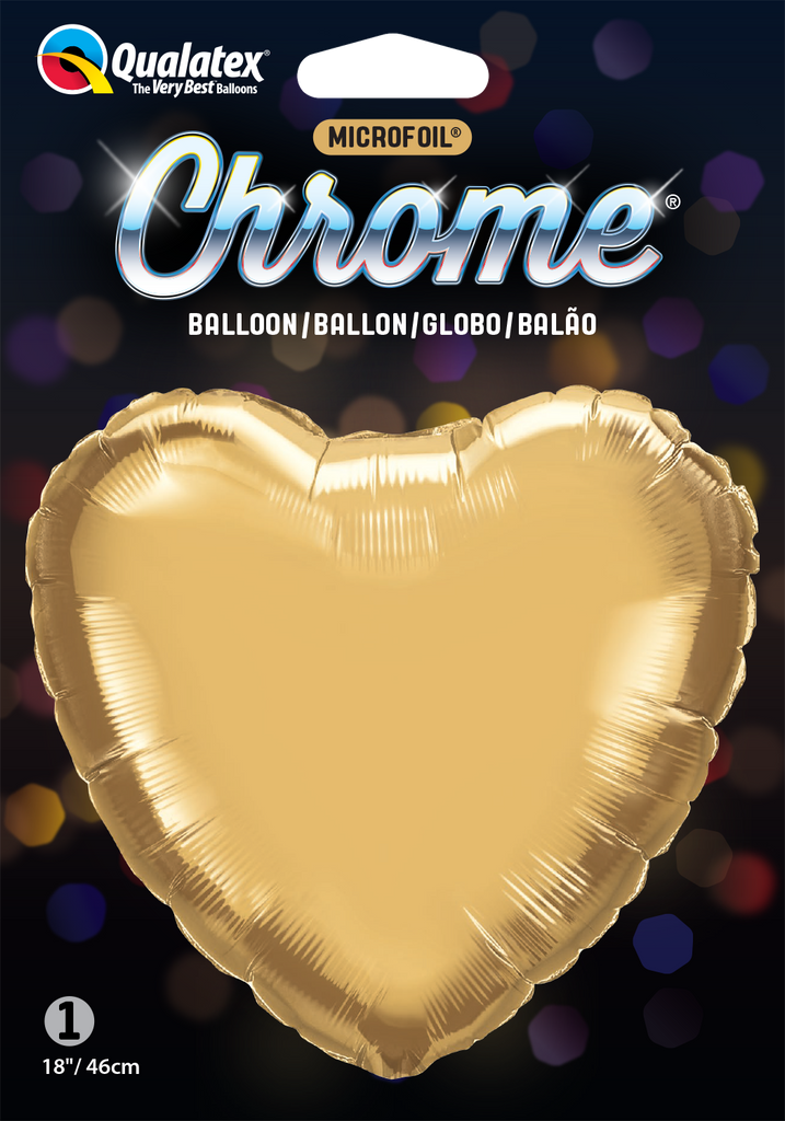 Chrome Gold Heart