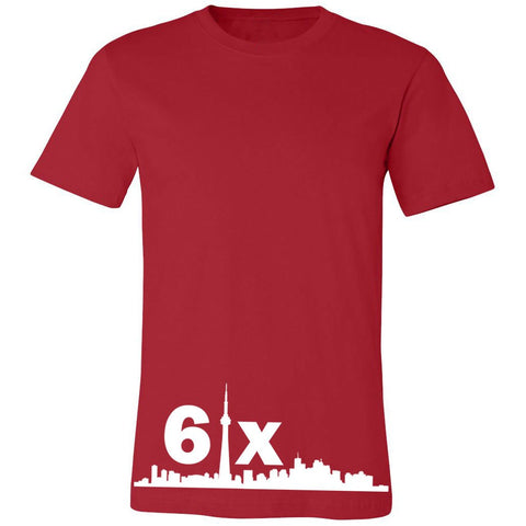 6ix Tee | White X Red