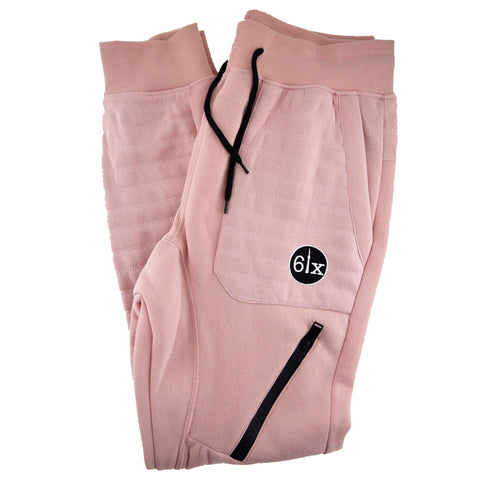 Drawstrings & Zippers Joggers | Black X Pink
