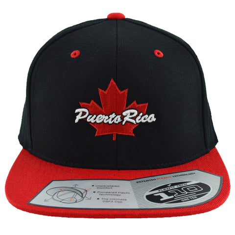 Puerto Rico Maple Leaf Snapback | Red X Black