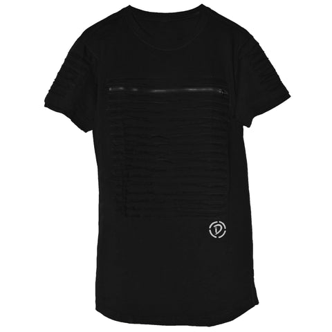 Slits & Zippers (Sq) Tee | Black