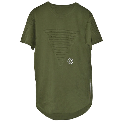 Slits & Zippers (Tr) Tee | Green