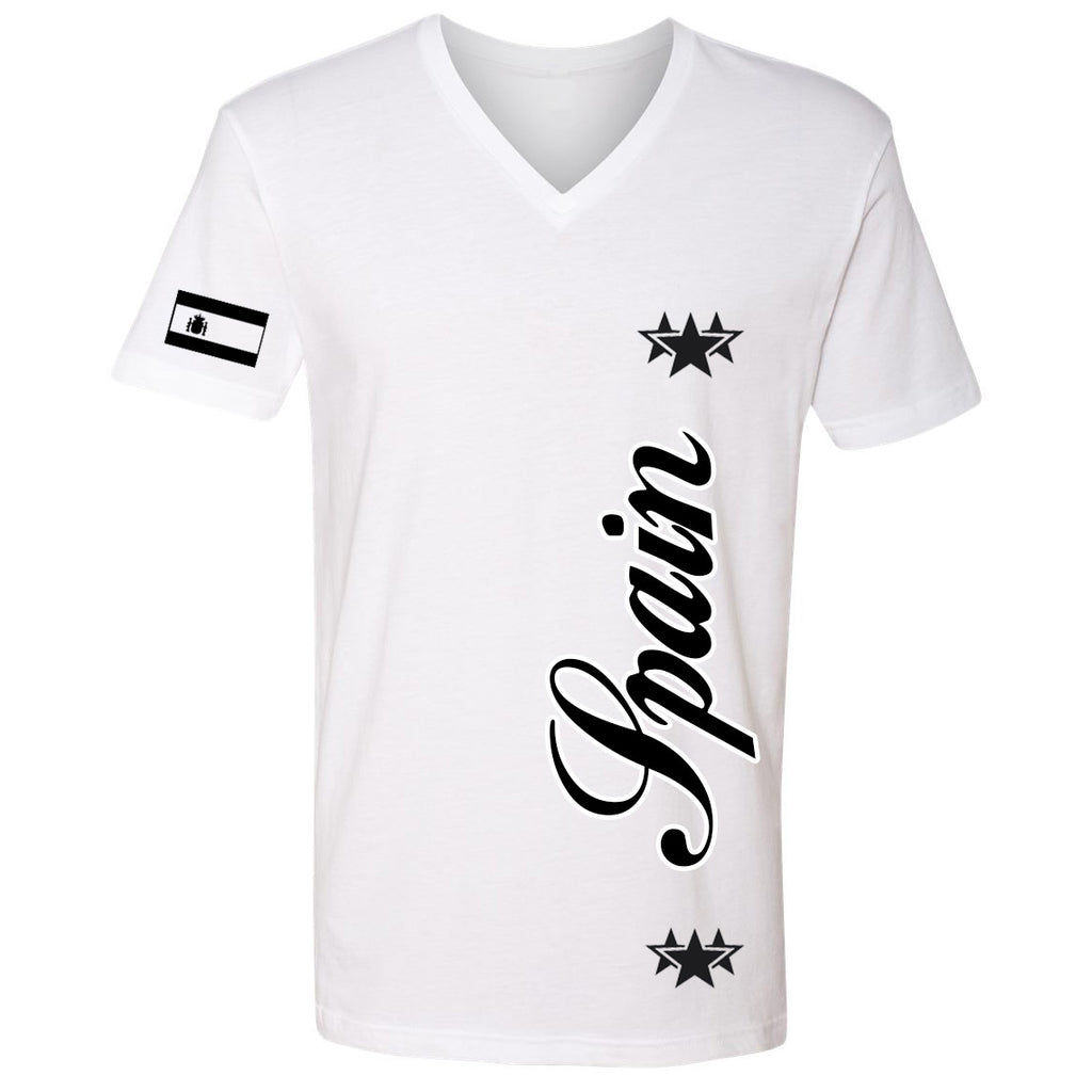 Spain Stars Youth Tee | Black X White