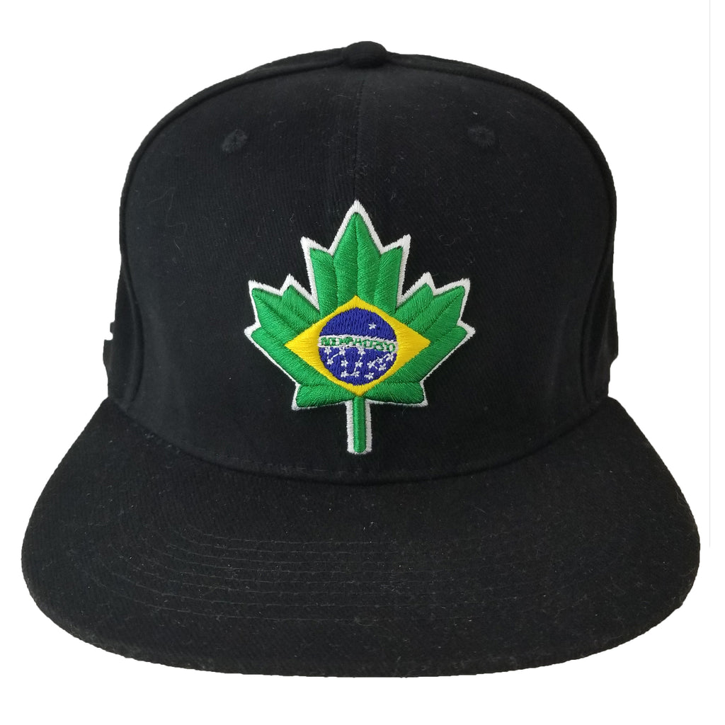 Brazil Maple Leaf Youth Snapback | Green Yellow Blue X Black