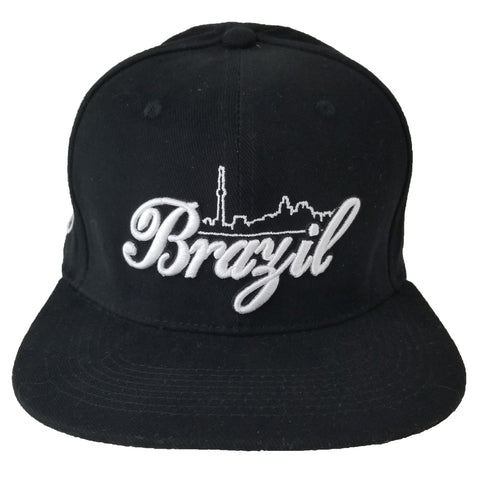 Brazil Skyline Youth Snapback | White X Black