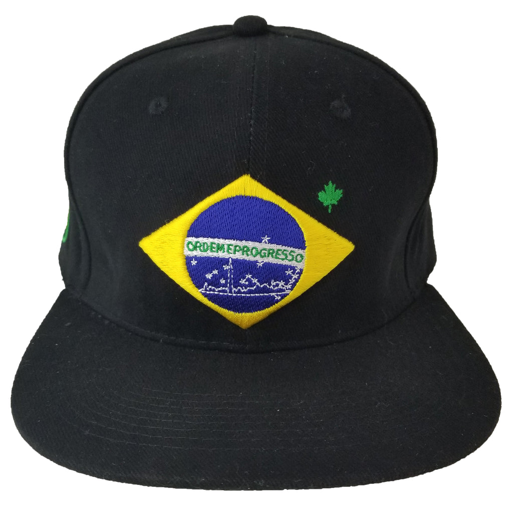 Brazil Emblem Youth Snapback | Yellow Blue Green X Black