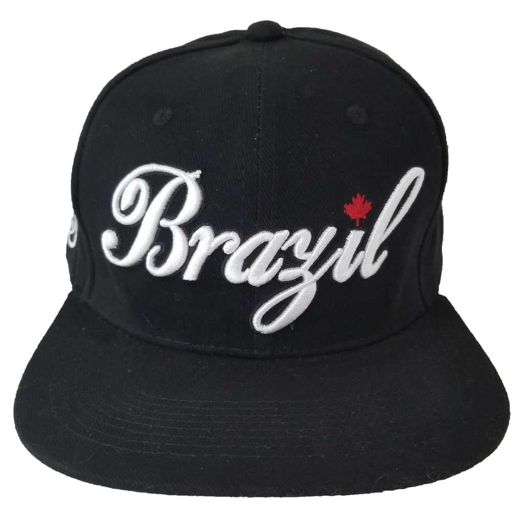 Brazil Red Maple Leaf Youth Snapback | White X Black
