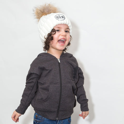 6ix Pom Beanie Toque + Skyline 6ix Stars Toddler Zipper Hoodie