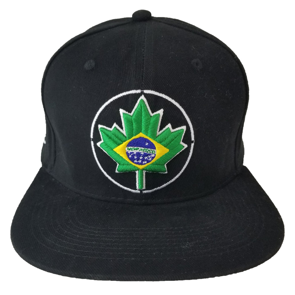 Brazil Maple Leaf Circle Youth Snapback | BRA X Black