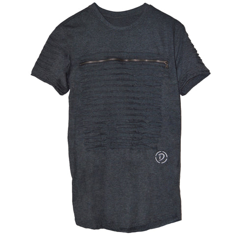 Slits & Zippers (Sq) Youth Tee | Grey