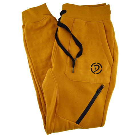 Drawstrings & Zippers Youth Joggers | Black X Gold