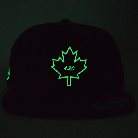 4:20 Maple Leaf Youth Snapback | Glow in the Dark X Black