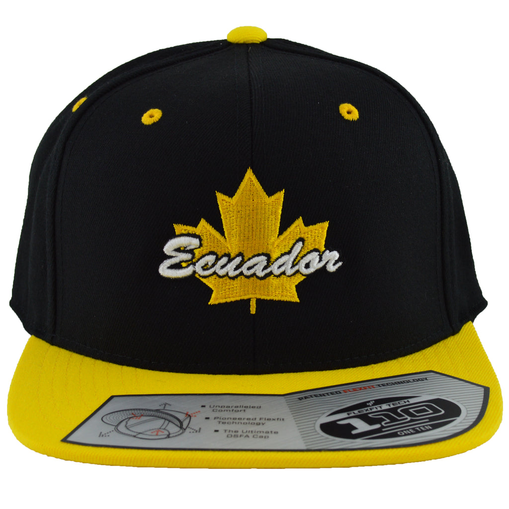 Ecuador Maple Leaf Youth Snapback | Yellow X Black