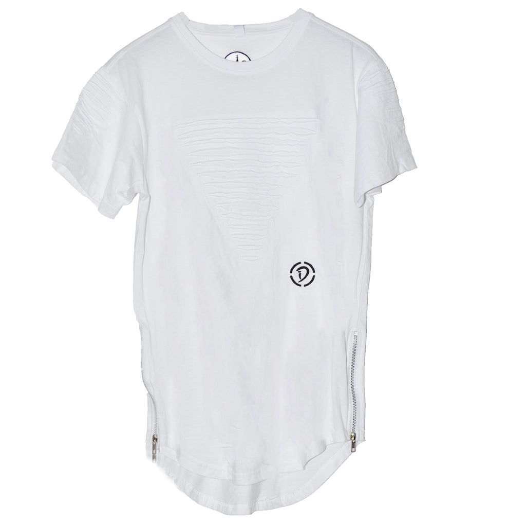 Slits & Zippers (Tr) Youth Tee | White