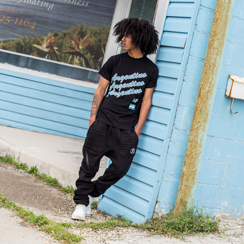 Argentino AF Tee + Drawstrings & Zippers Joggers