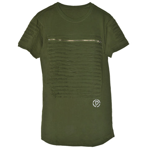 Slits & Zippers (Sq) Youth Tee | Green