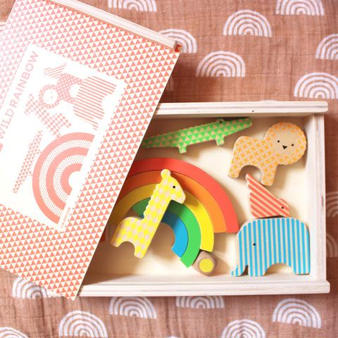 Wild Rainbow Wooden Game