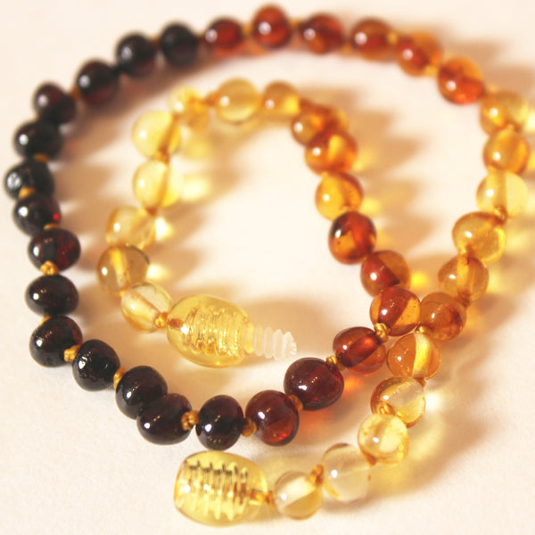 Rainbow Baltic Amber Necklace (Polished)