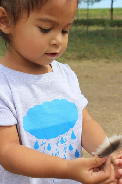 Organic Cotton Rainstorm Baby Bodysuit + Toddler Tee