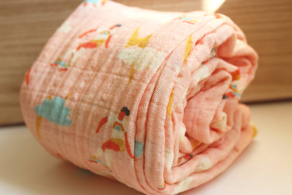 Organic Cotton Skater Girl Swaddle