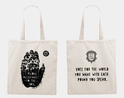 'I pledge allegiance to the soil' Tote Bag