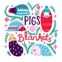 Christmas Card - Pigs in Blankets