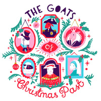 Christmas Card - Goats of Christmas Past