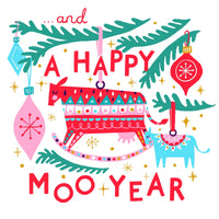 Christmas Card - A Happy Moo Year