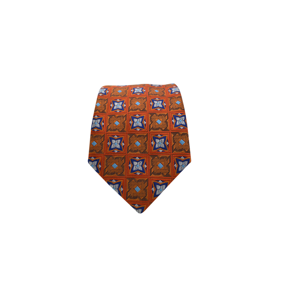 Ancora Italy Glaive Necktie in Orange