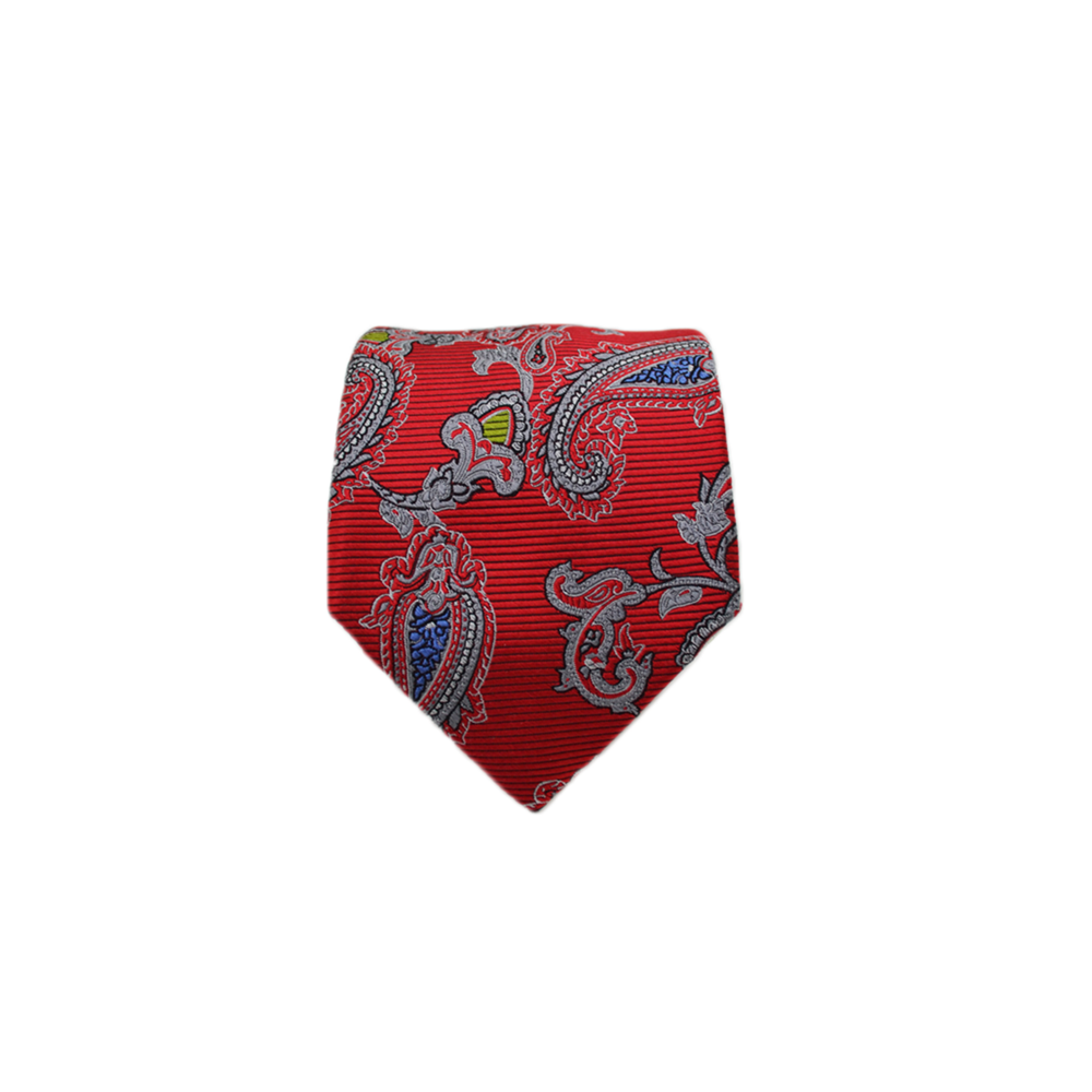Ancora Italy Neck Tie in Red Floral