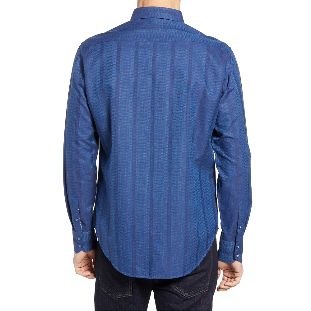 Mens Robert Graham Dyson Sport Shirt in Navy - Brother's on the Boulevard
