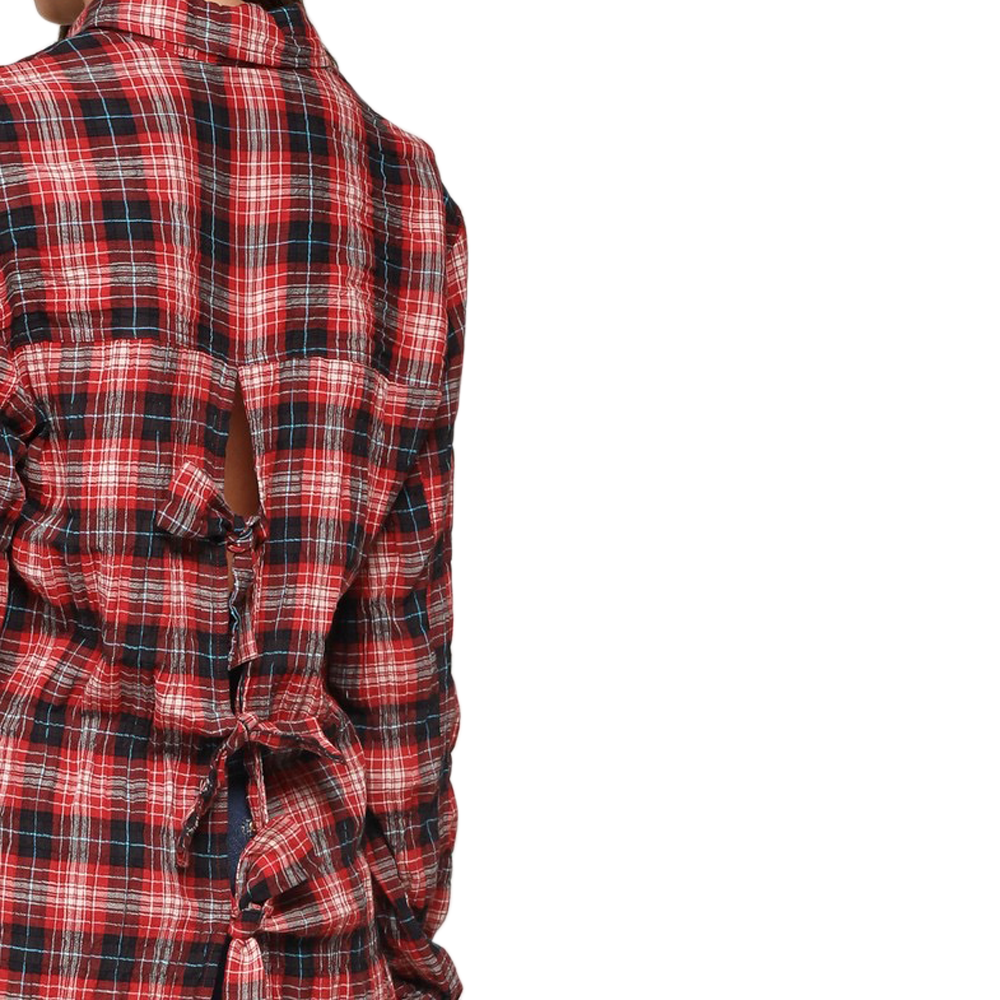 Womens Rouge Plaid Top in Red - Brother's on the Boulevard