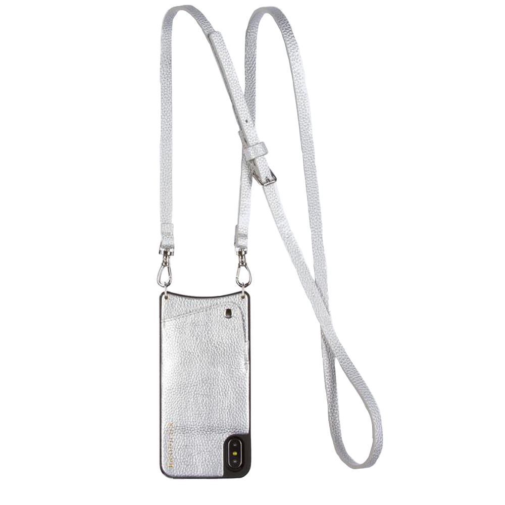 Womens Bandolier Emma Pebble Crossbody iPhone Case in Silver - Brother's on the Boulevard