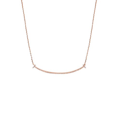 Womens Theia Jewelry Rounded Bar Short Necklace in Rose Gold - Brother's on the Boulevard