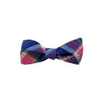 High Cotton Moonlight Madras Bow Tie in Dusk